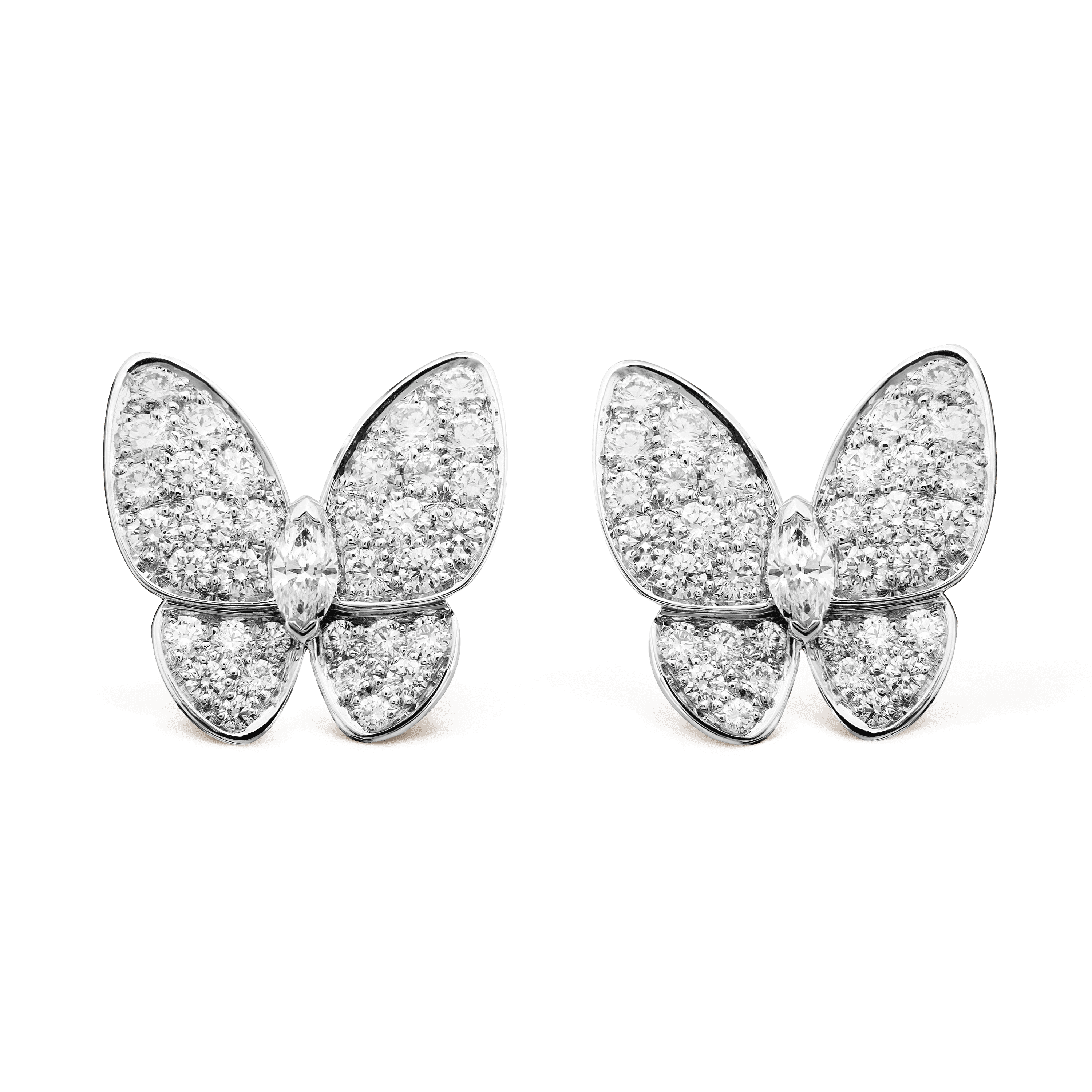 Two Butterfly earrings, - Front View - VCARB82900 - Van Cleef & Arpels