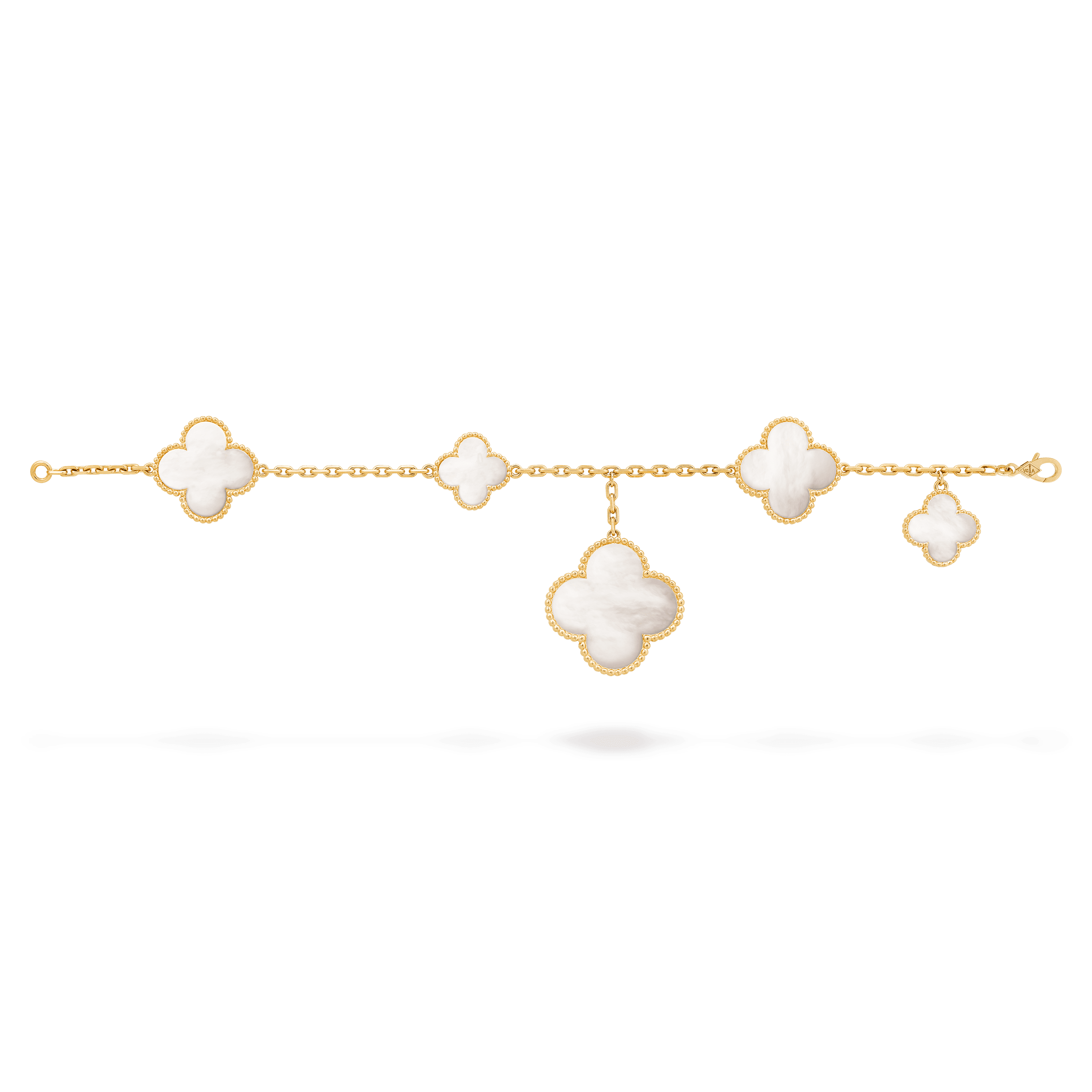 Magic Alhambra bracelet, 5 motifs, - Open View - VCARD78600 - Van Cleef & Arpels