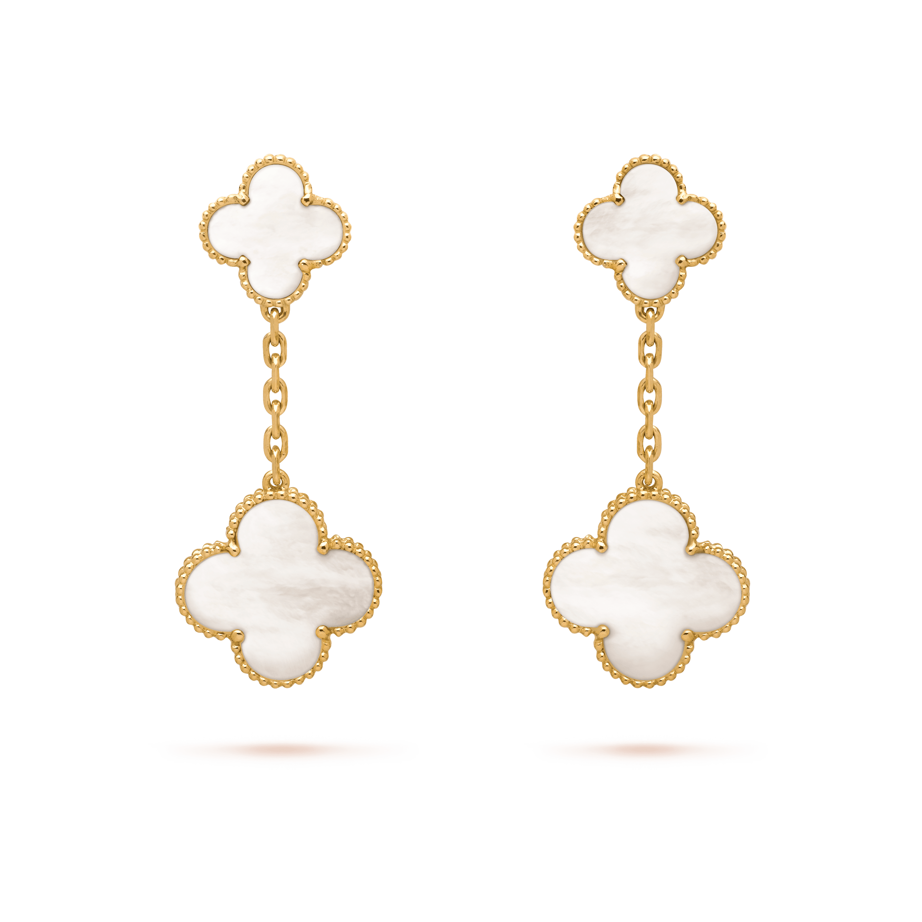 Magic Alhambra earrings, 2 motifs, - Front View - VCARD78800 - Van Cleef & Arpels