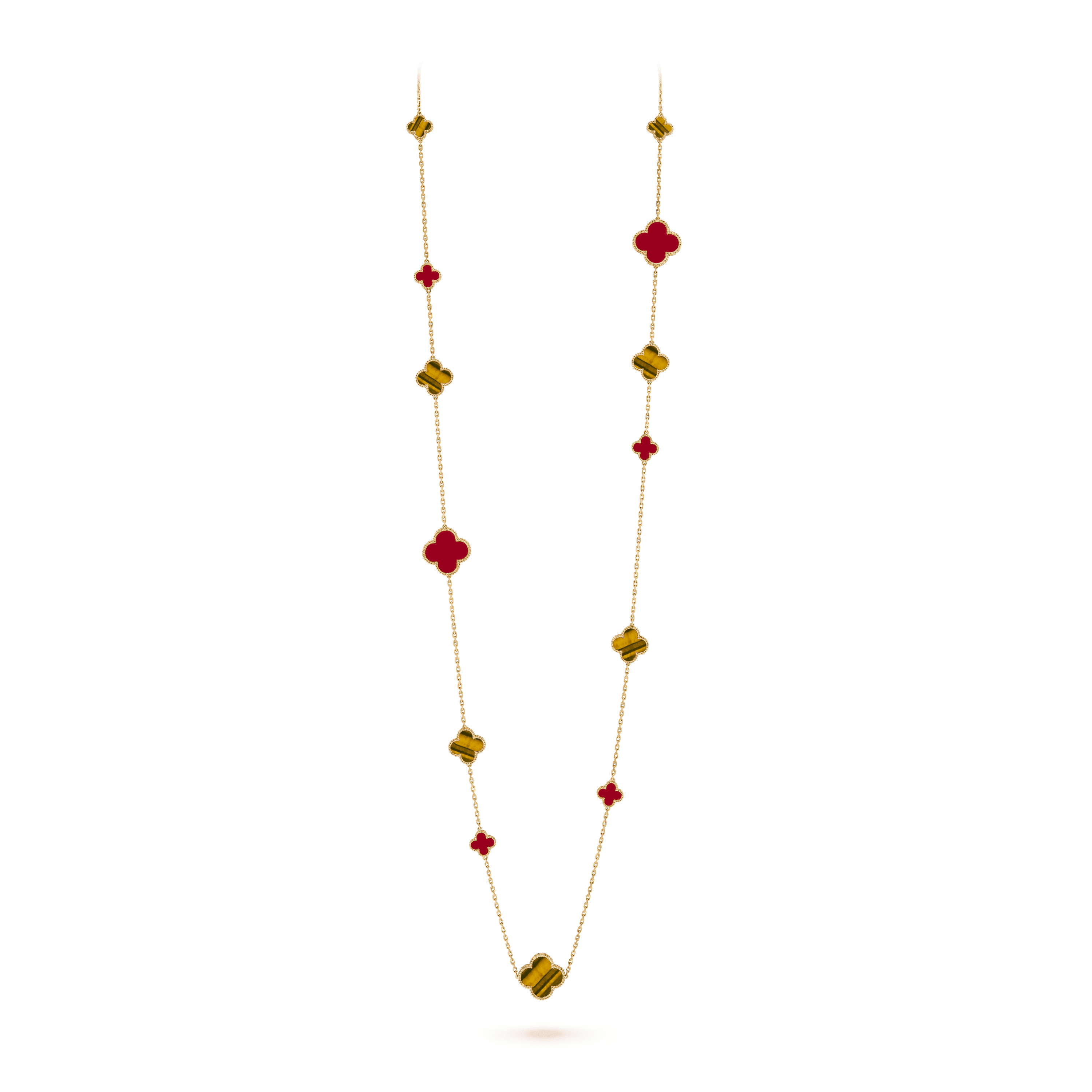 Magic Alhambra long necklace, 16 motifs, - On Stand View - VCARN5JO00 - Van Cleef & Arpels