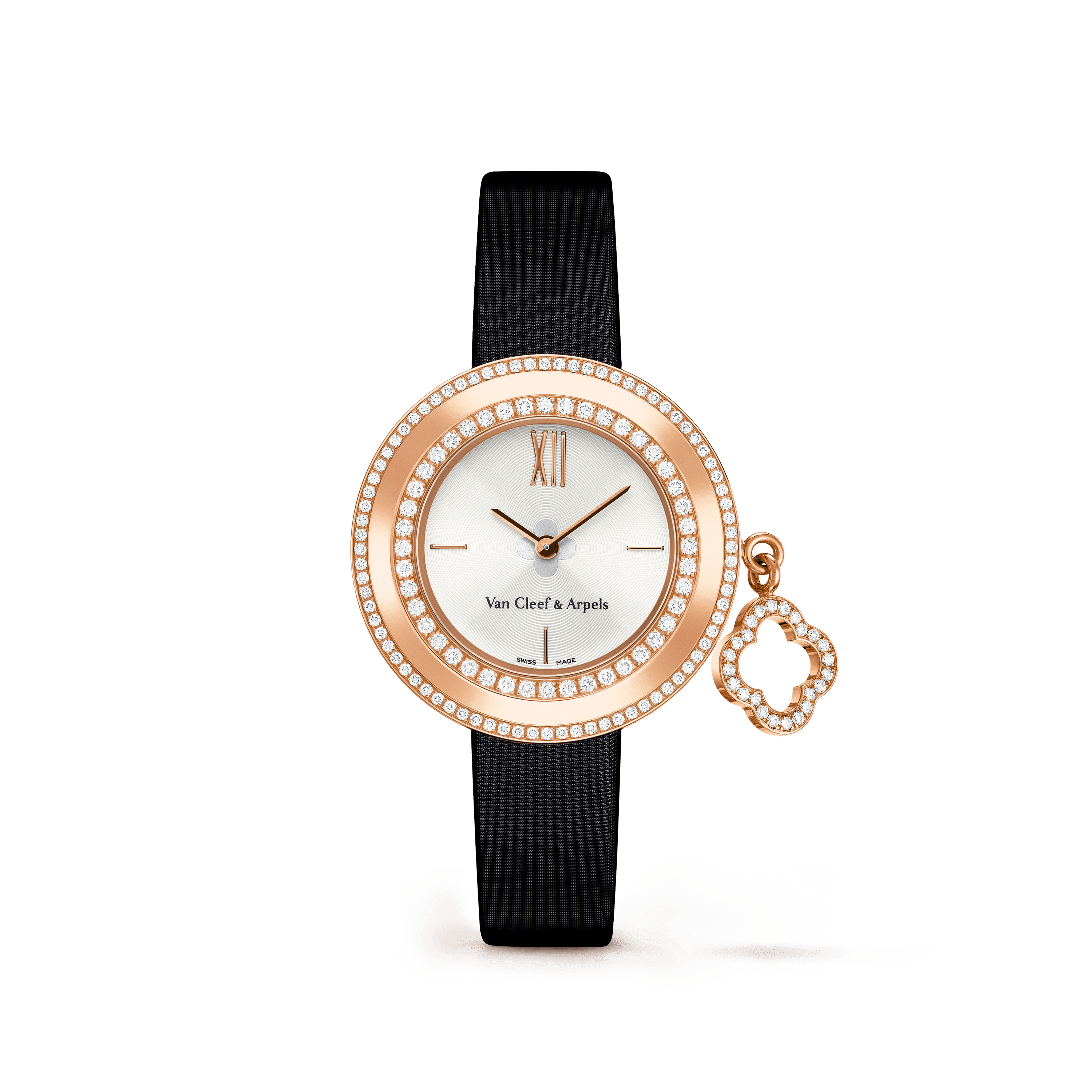 Charms watch, 25 mm,Satin,self interchangeable - Front View - VCARO29800 - Van Cleef & Arpels