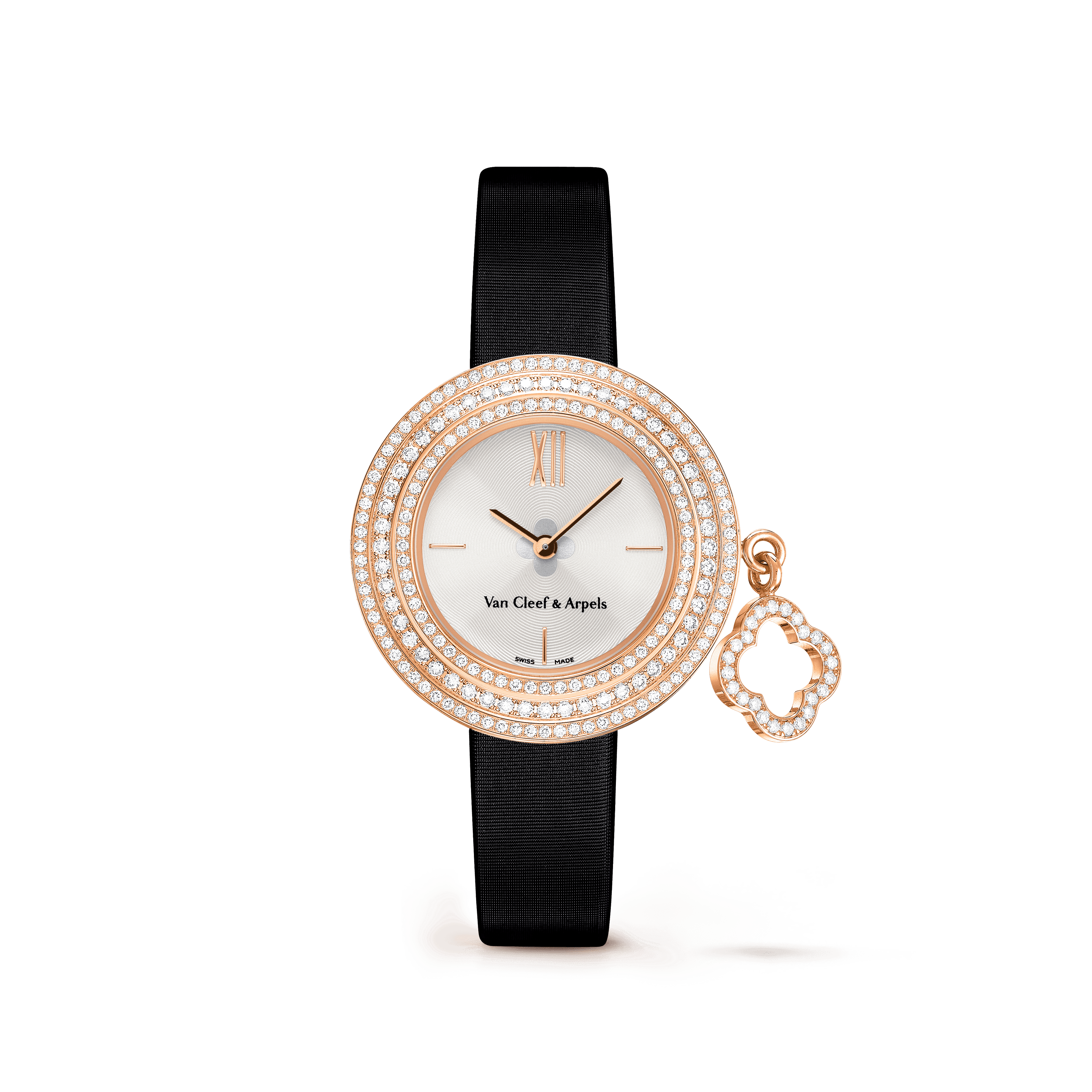 Charms watch, 25 mm,Satin,self interchangeable - Front View - VCARO29700 - Van Cleef & Arpels