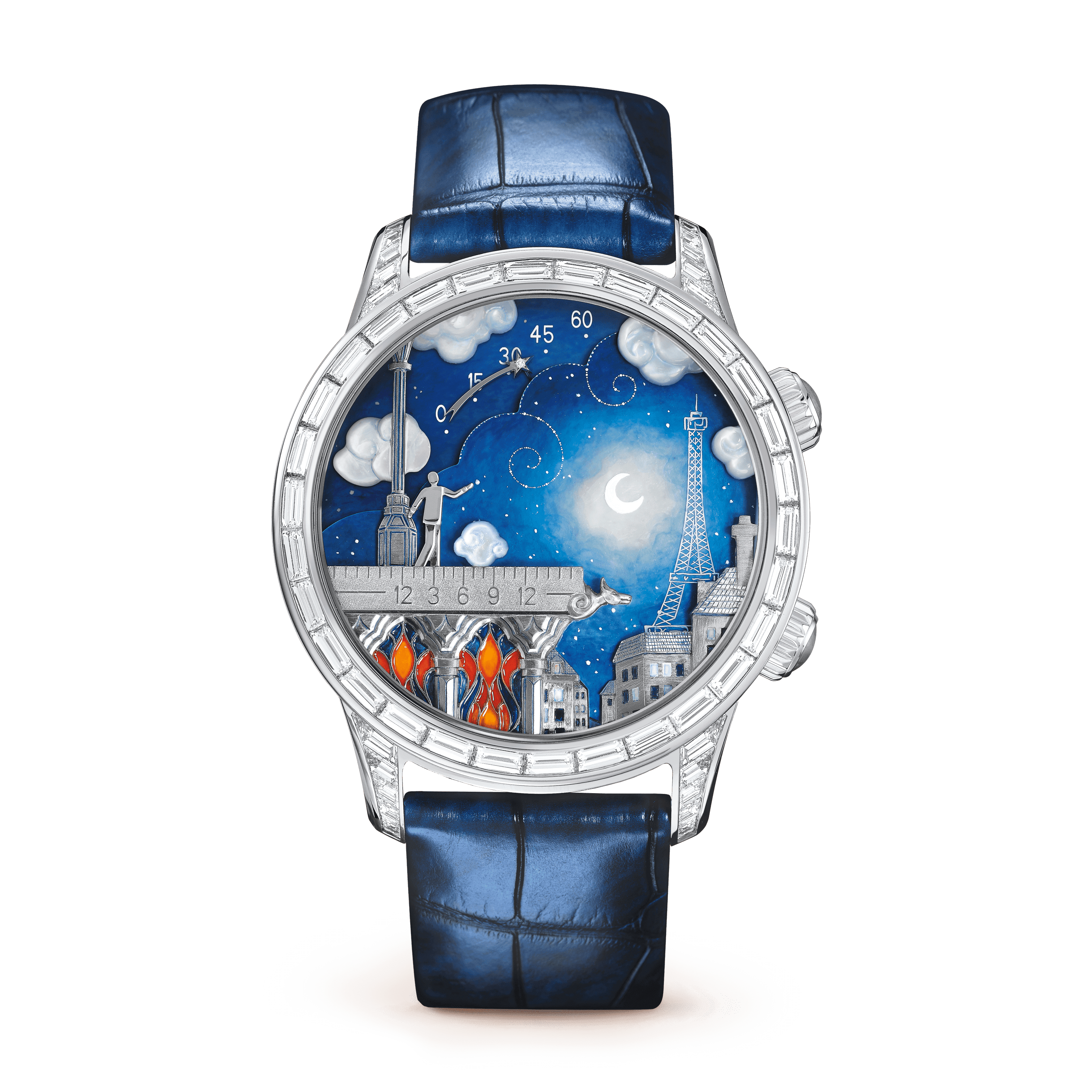 Montre Midnight Poetic Wish, - Front View - VCARO30N00 - Van Cleef & Arpels