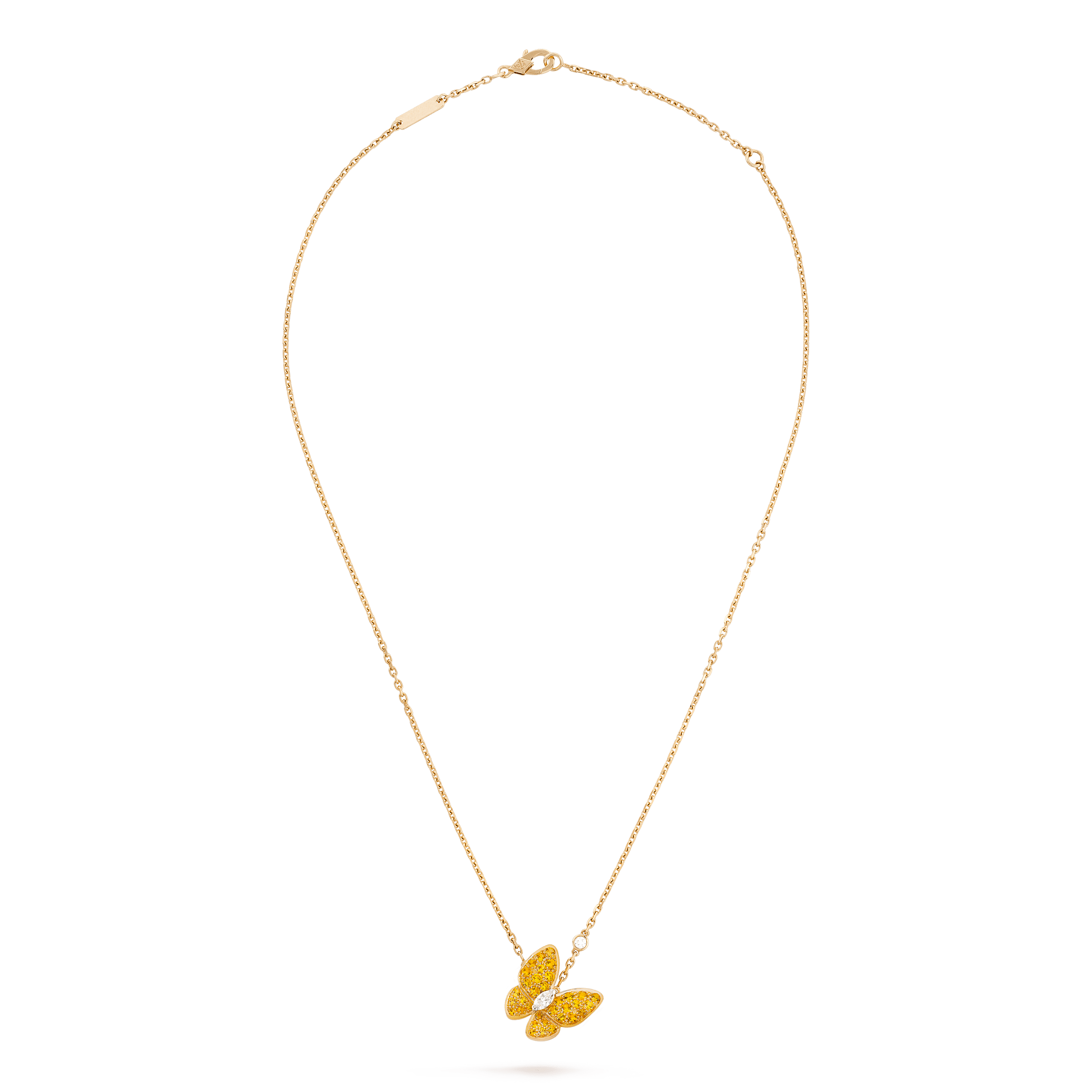 Pingente Two Butterfly, - Front View - VCARO3M300 - Van Cleef & Arpels