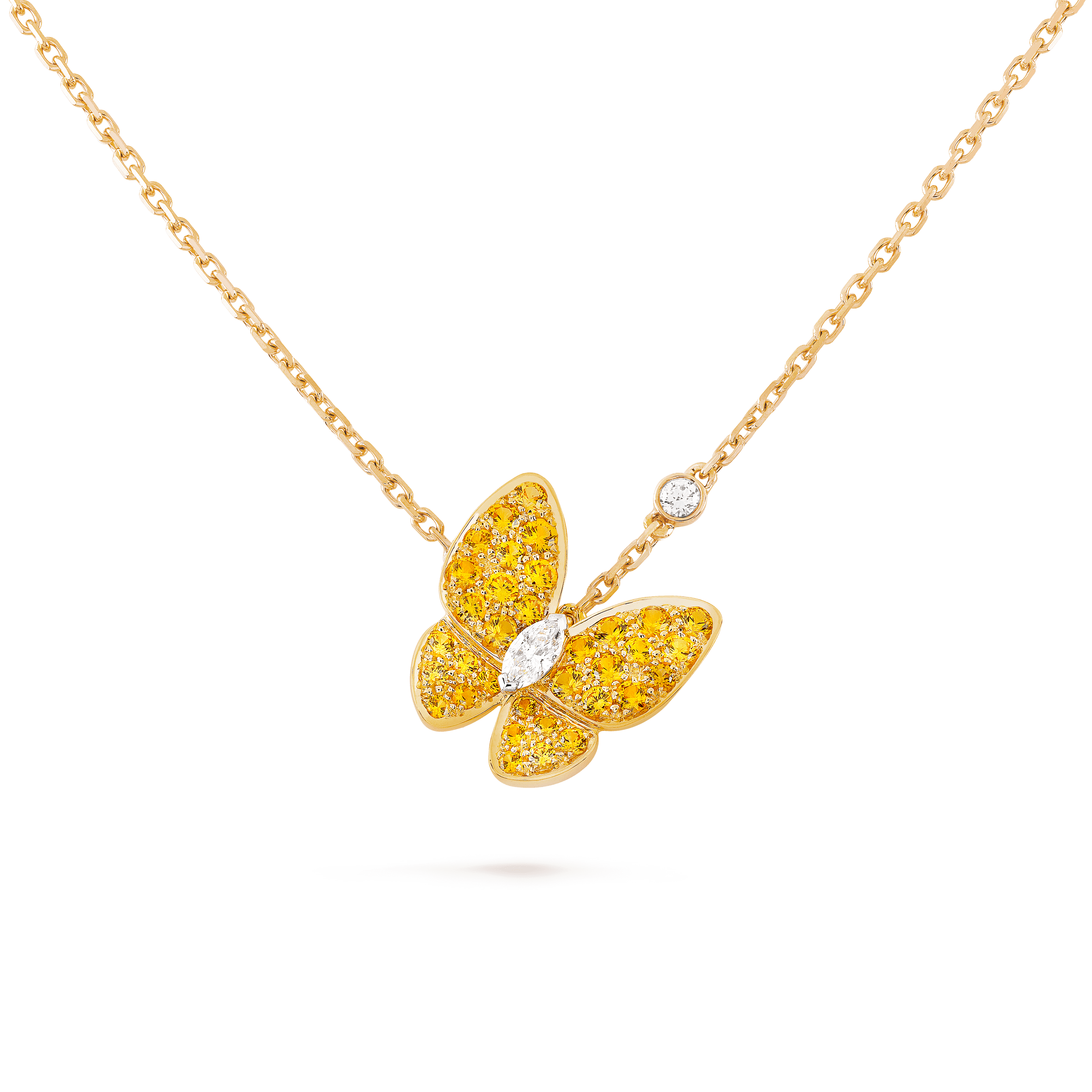 Pingente Two Butterfly, - Detail View - VCARO3M300 - Van Cleef & Arpels