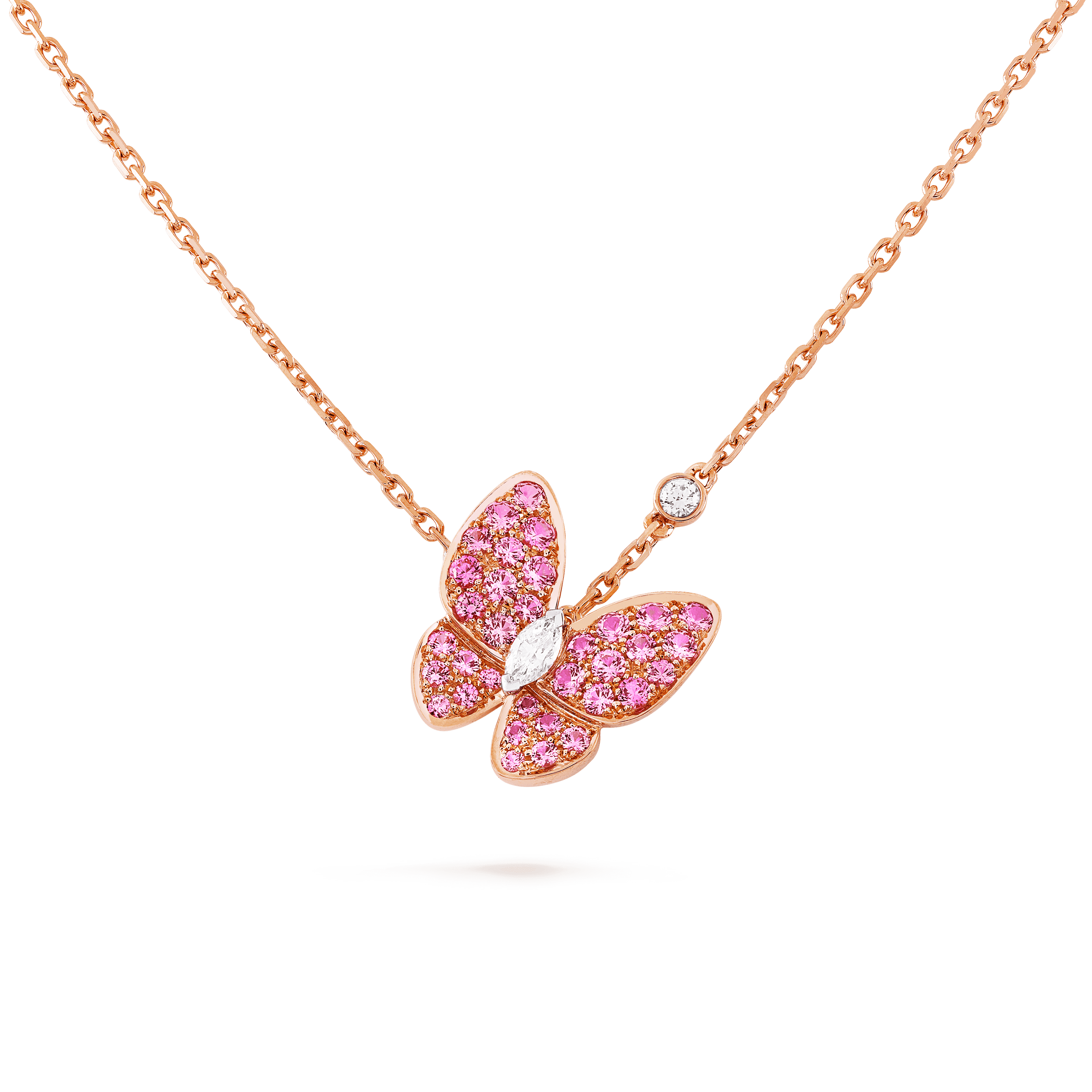 Two Butterfly pendant, - Detail View - VCARO3M200 - Van Cleef & Arpels