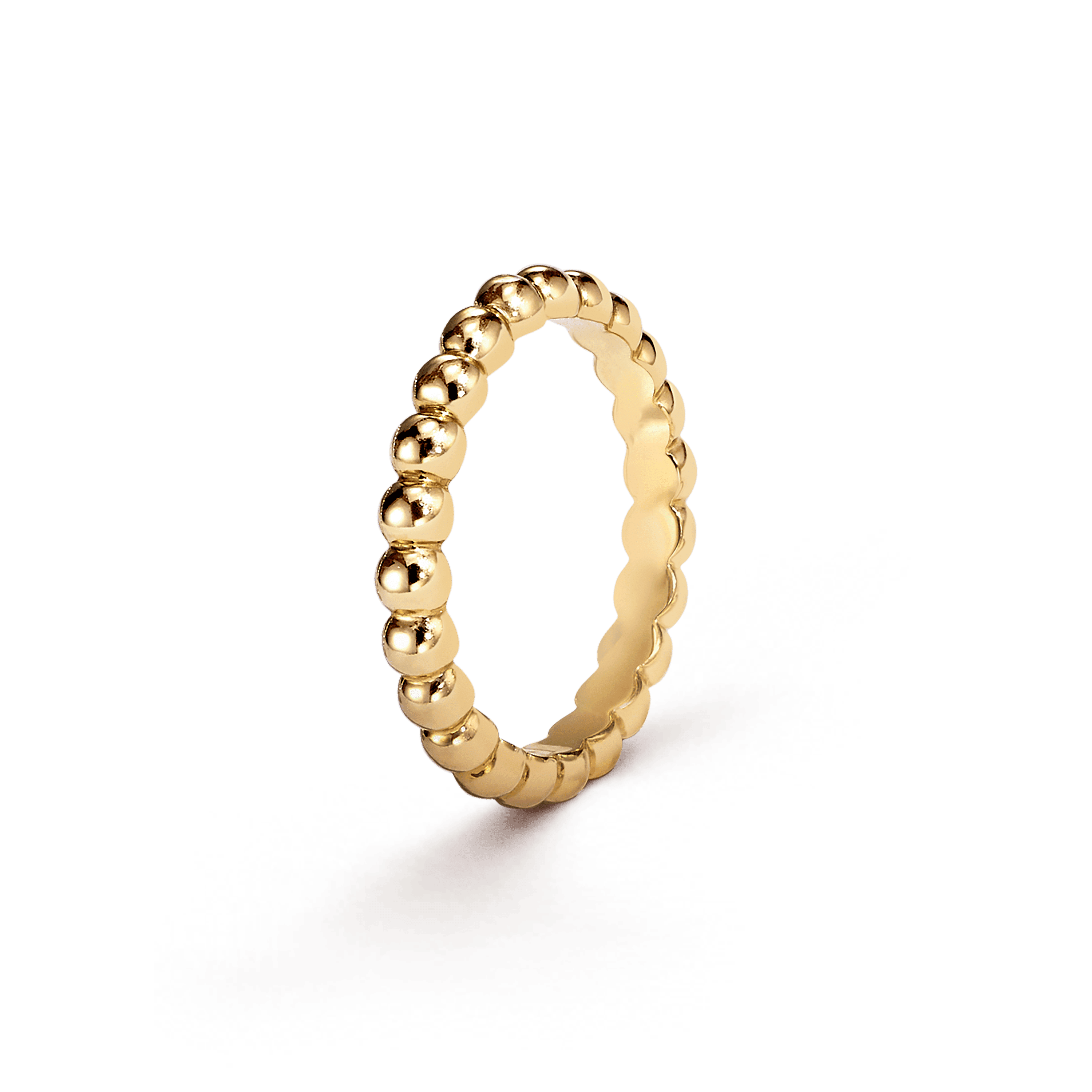 Perlée pearls of gold ring, medium model, - 3|4 View - VCARO3Y500 - Van Cleef & Arpels