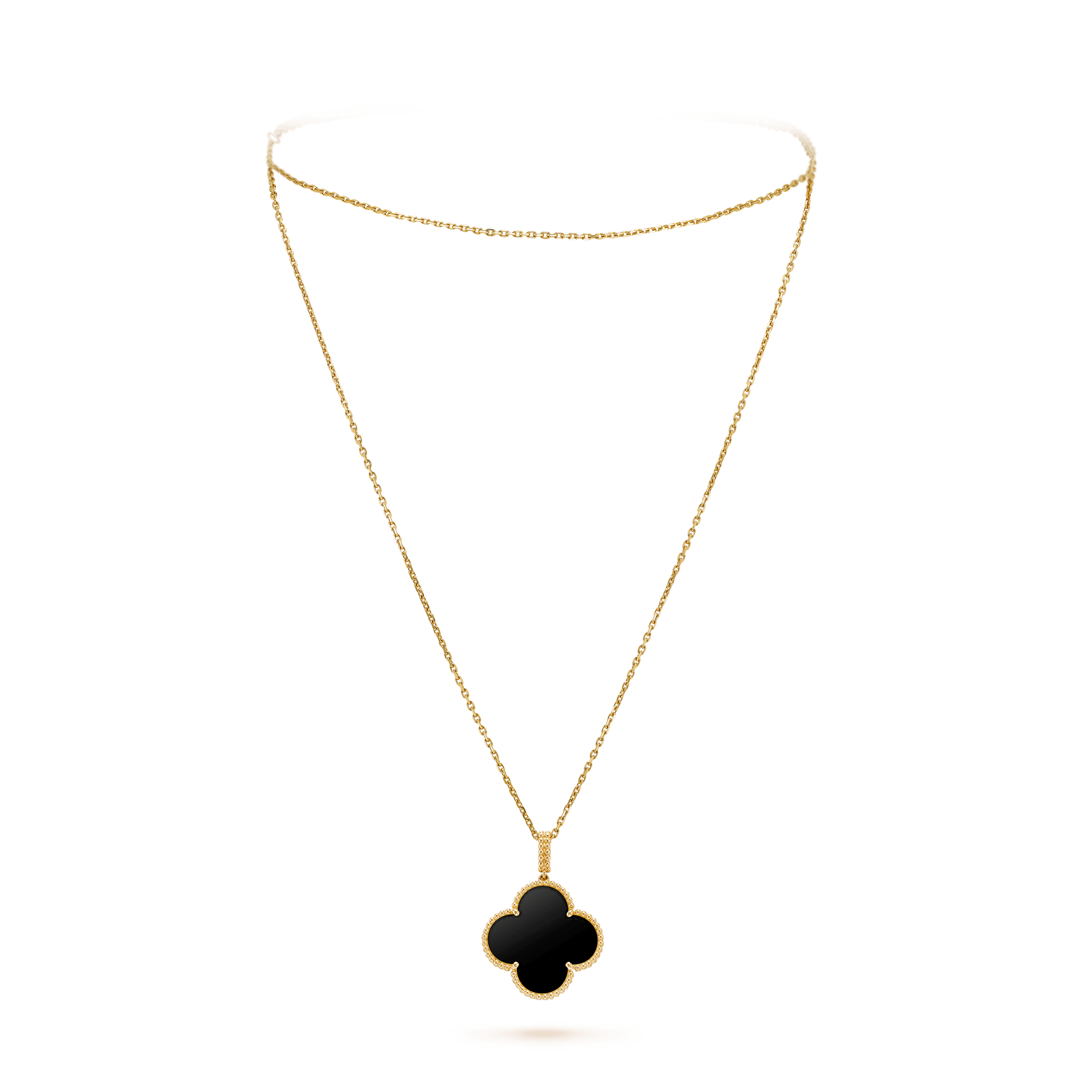 Magic Alhambra long necklace, 1 motif, - On Stand View - VCARO49M00 - Van Cleef & Arpels