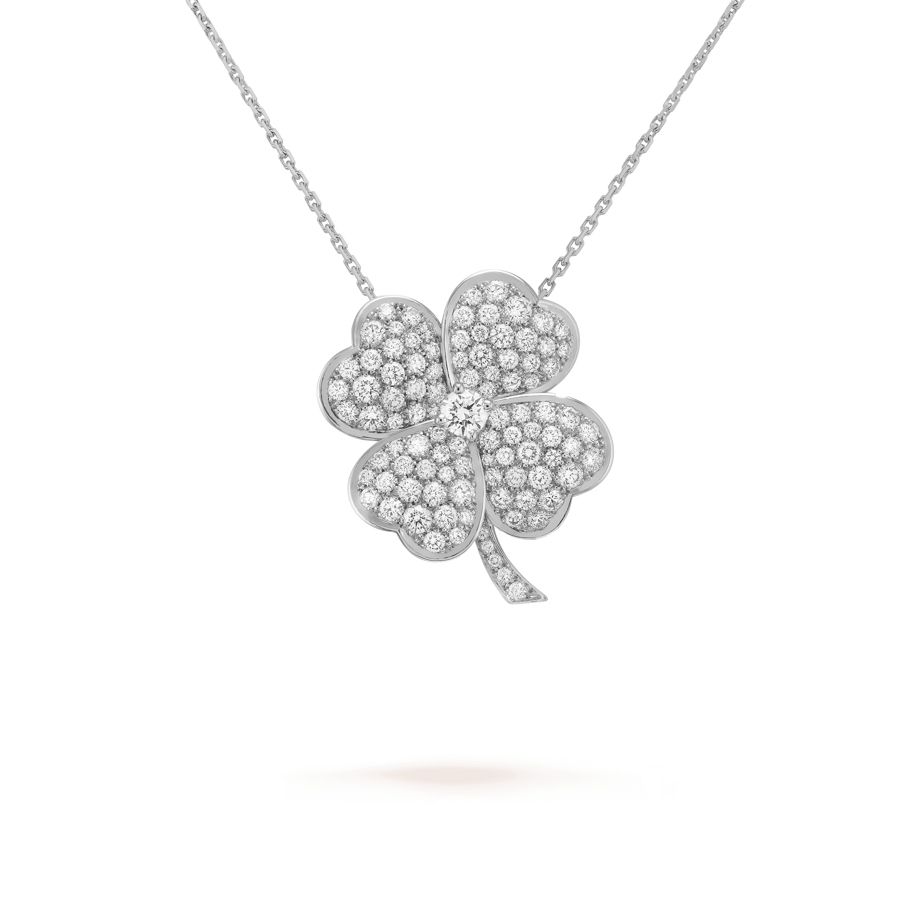 Cosmos clip pendant, large model, - Detail View - VCARO68M00 - Van Cleef & Arpels