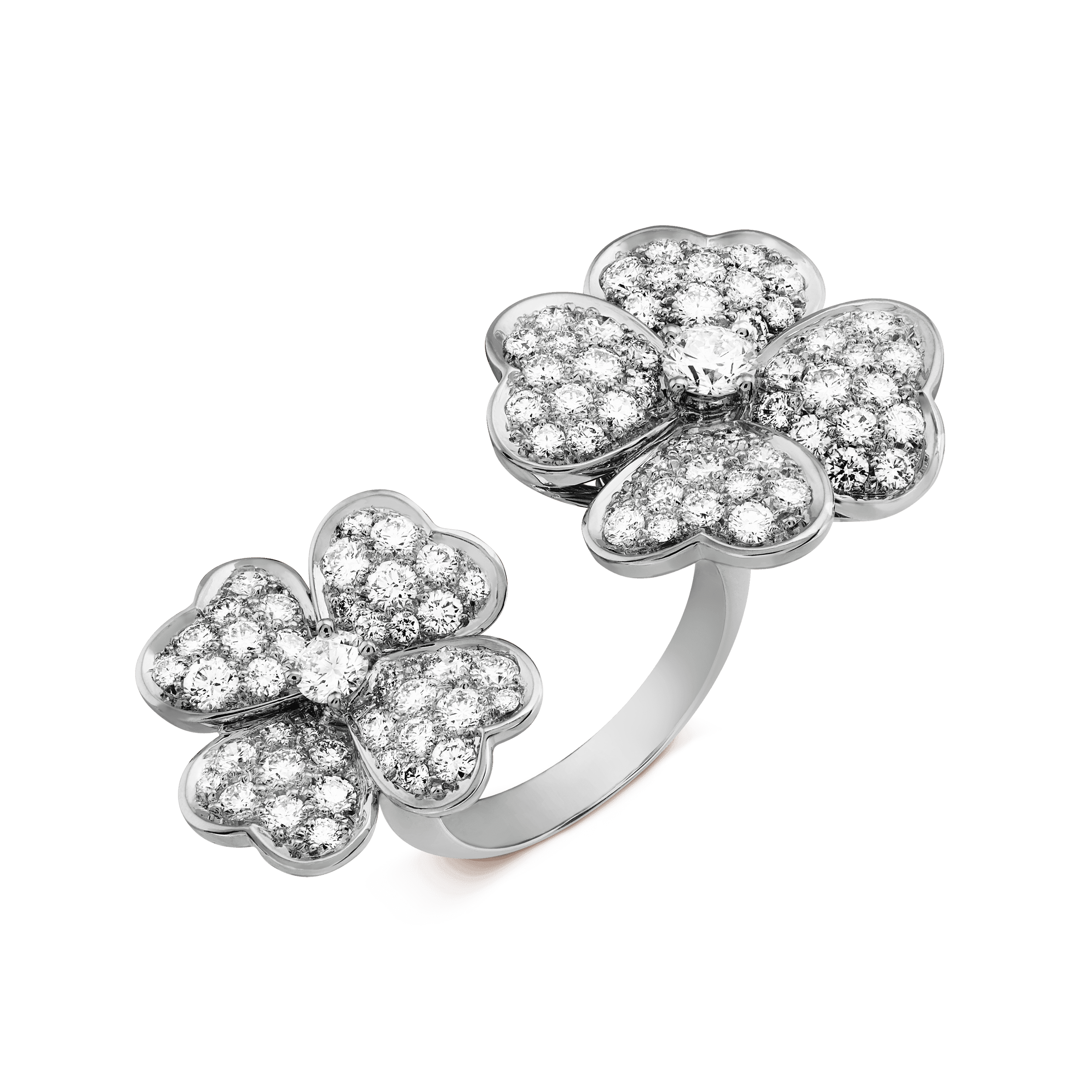 Cosmos Between the Finger ring, - 3|4 View - VCARO6A800 - Van Cleef & Arpels