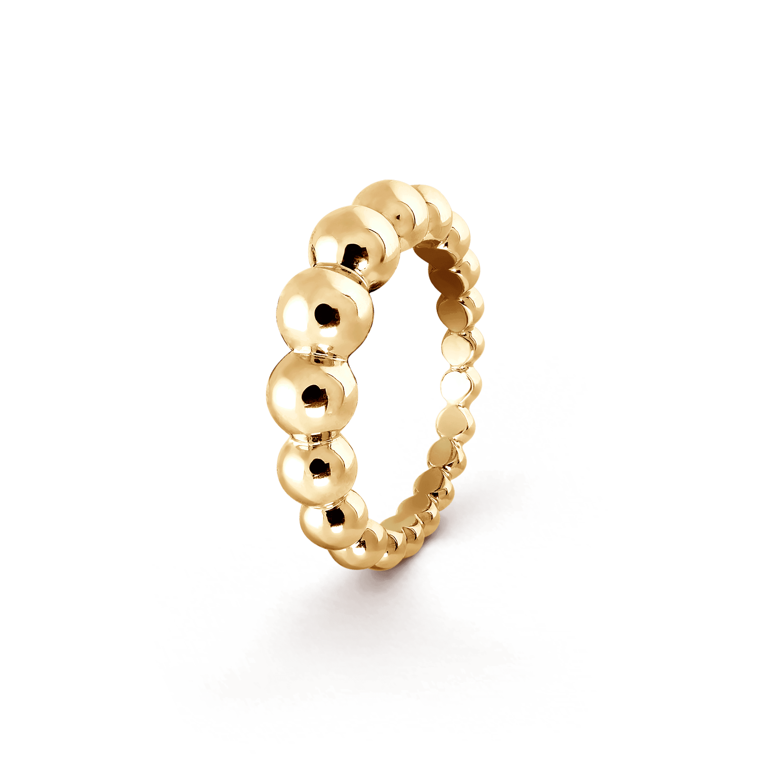 Perlée pearls of gold variation ring, - 3|4 View - VCARO5M000 - Van Cleef & Arpels