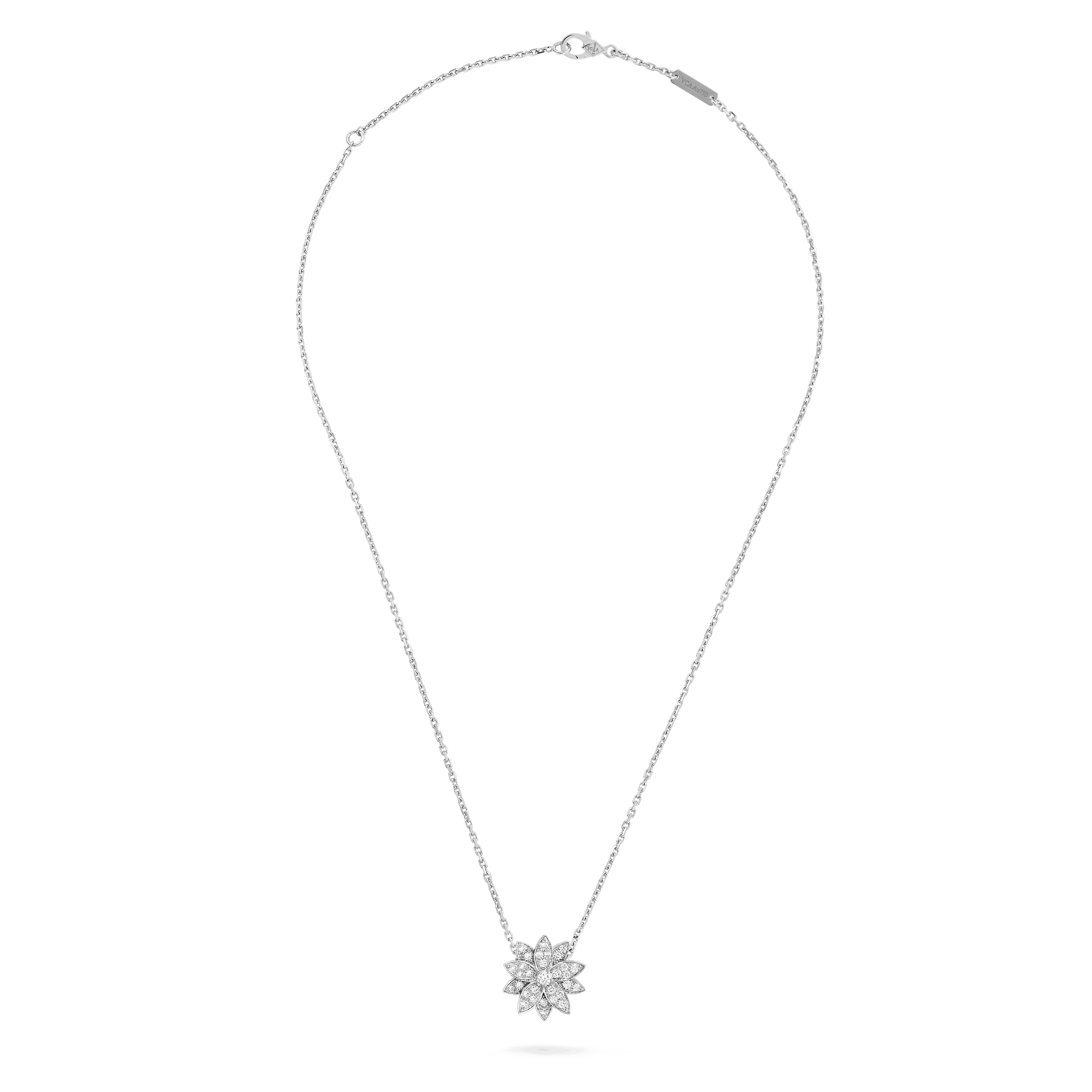 Lotus pendant, small model, - Front View - VCARO6P600 - Van Cleef & Arpels