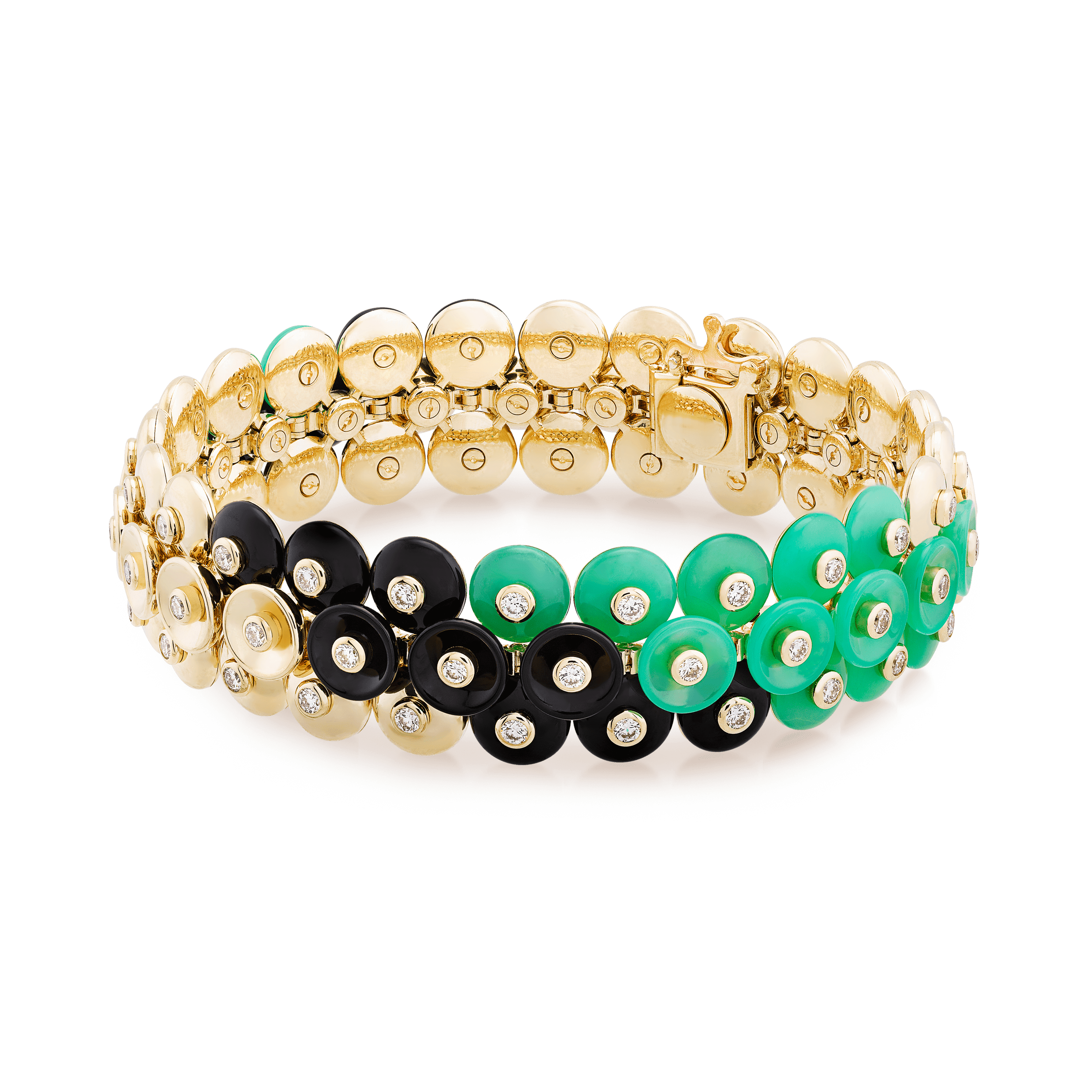 Bouton d'or bracelet, medium model, - Front View - VCARO6W300 - Van Cleef & Arpels