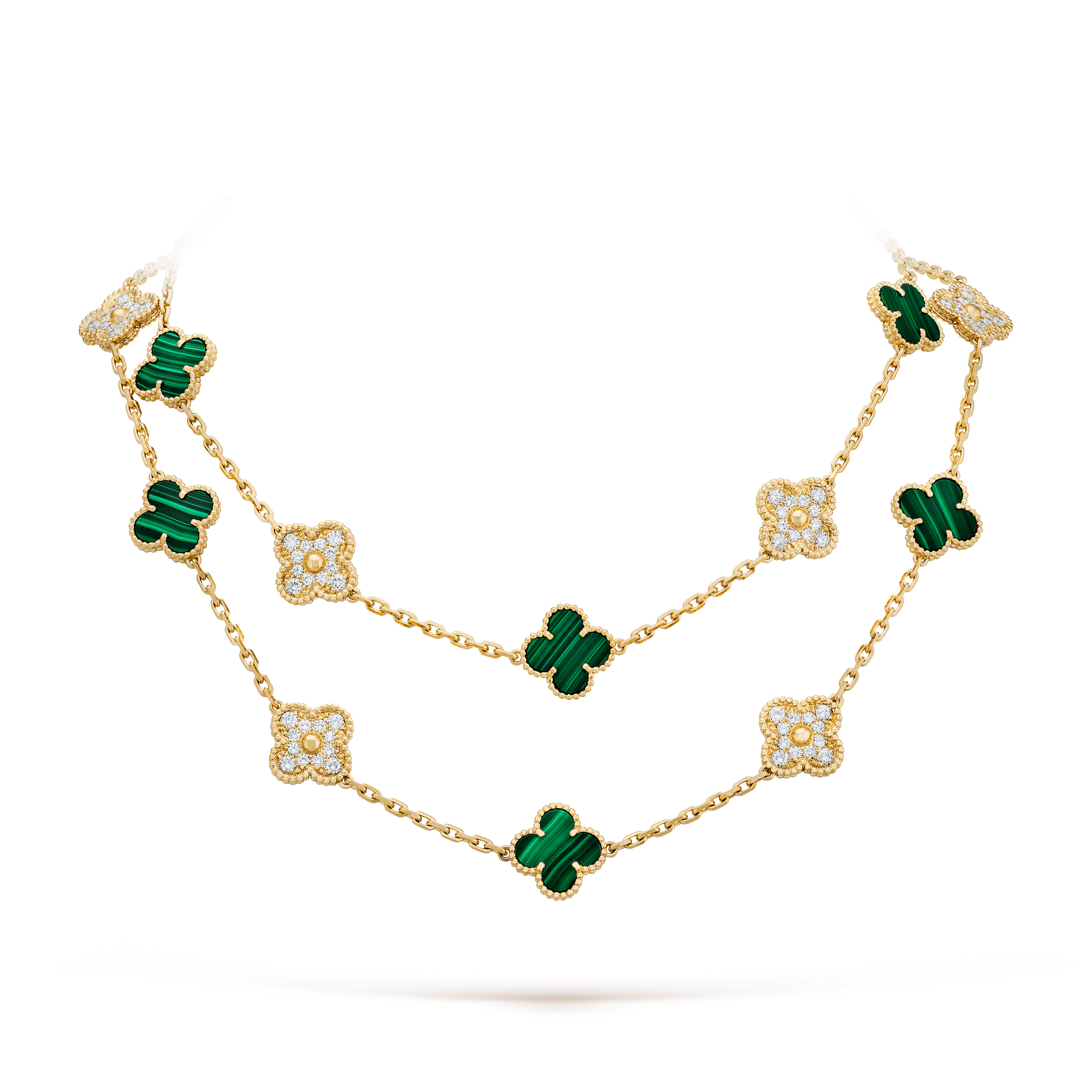 Vintage Alhambra long necklace, 20 motifs, - Detail View - VCARO7GP00 - Van Cleef & Arpels