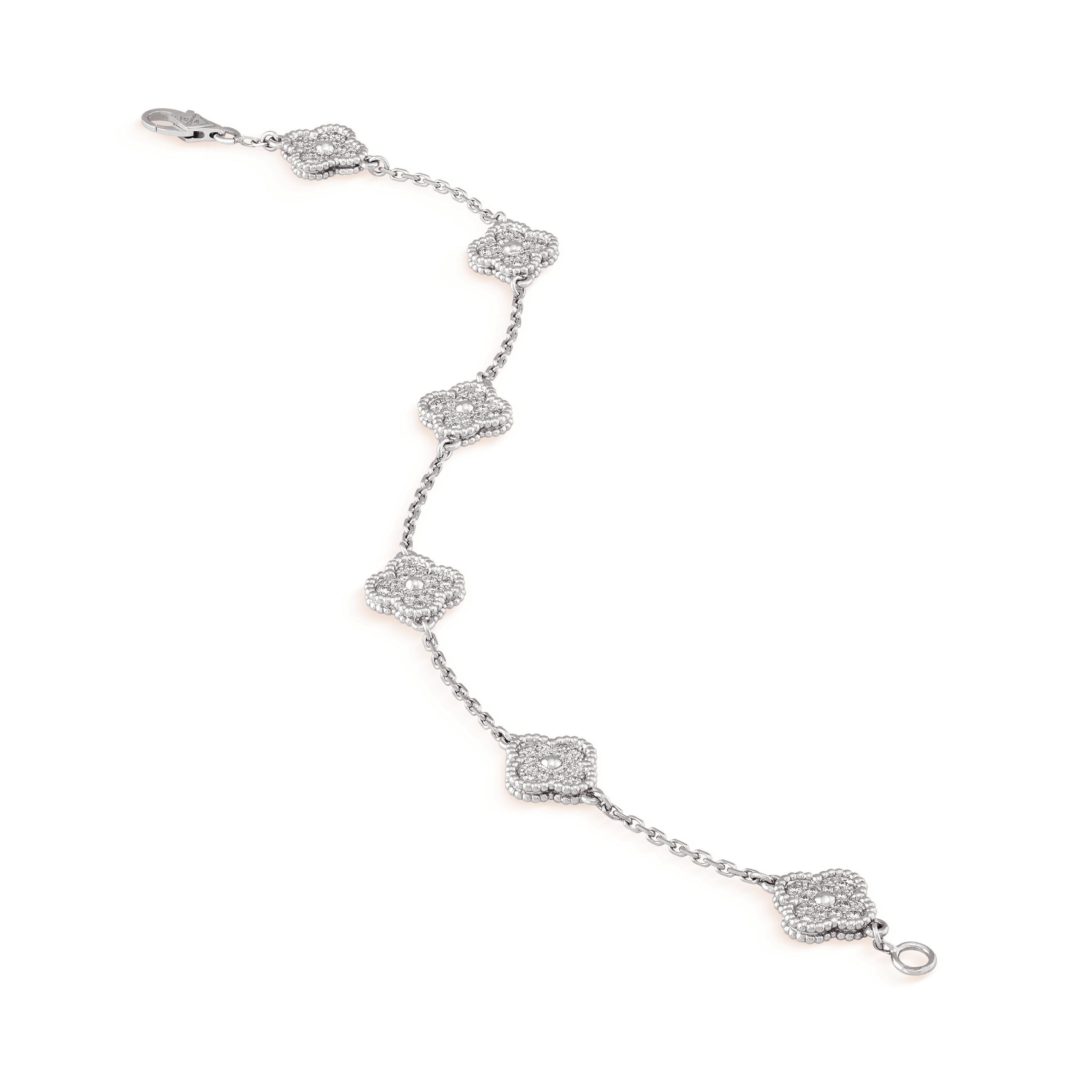 Sweet Alhambra bracelet, 6 motifs, - Close-Up View - VCARO85700 - Van Cleef & Arpels