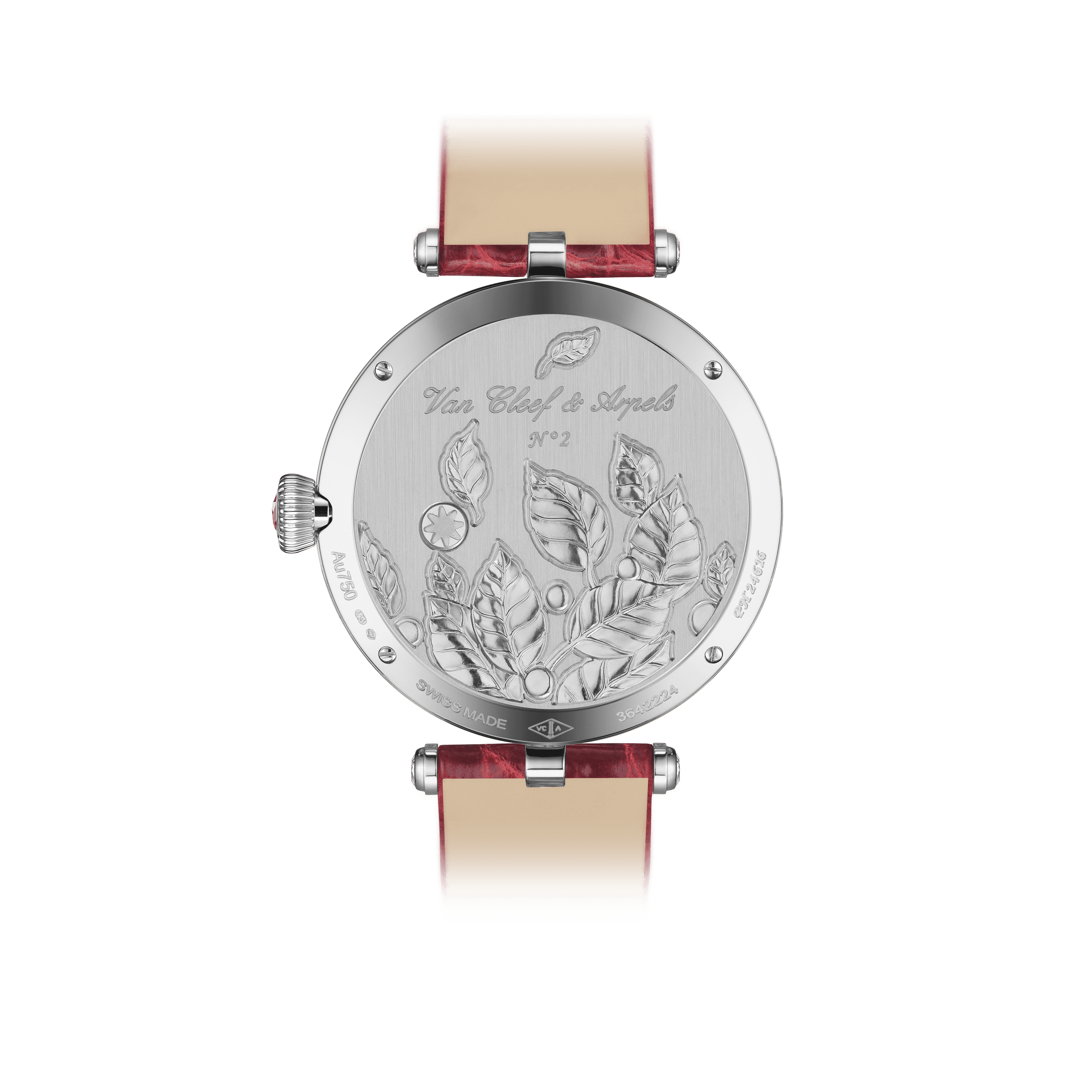 Lady Jour des Fleurs Watch,Alligator Shiny - Back View - VCARO8O000 - Van Cleef & Arpels