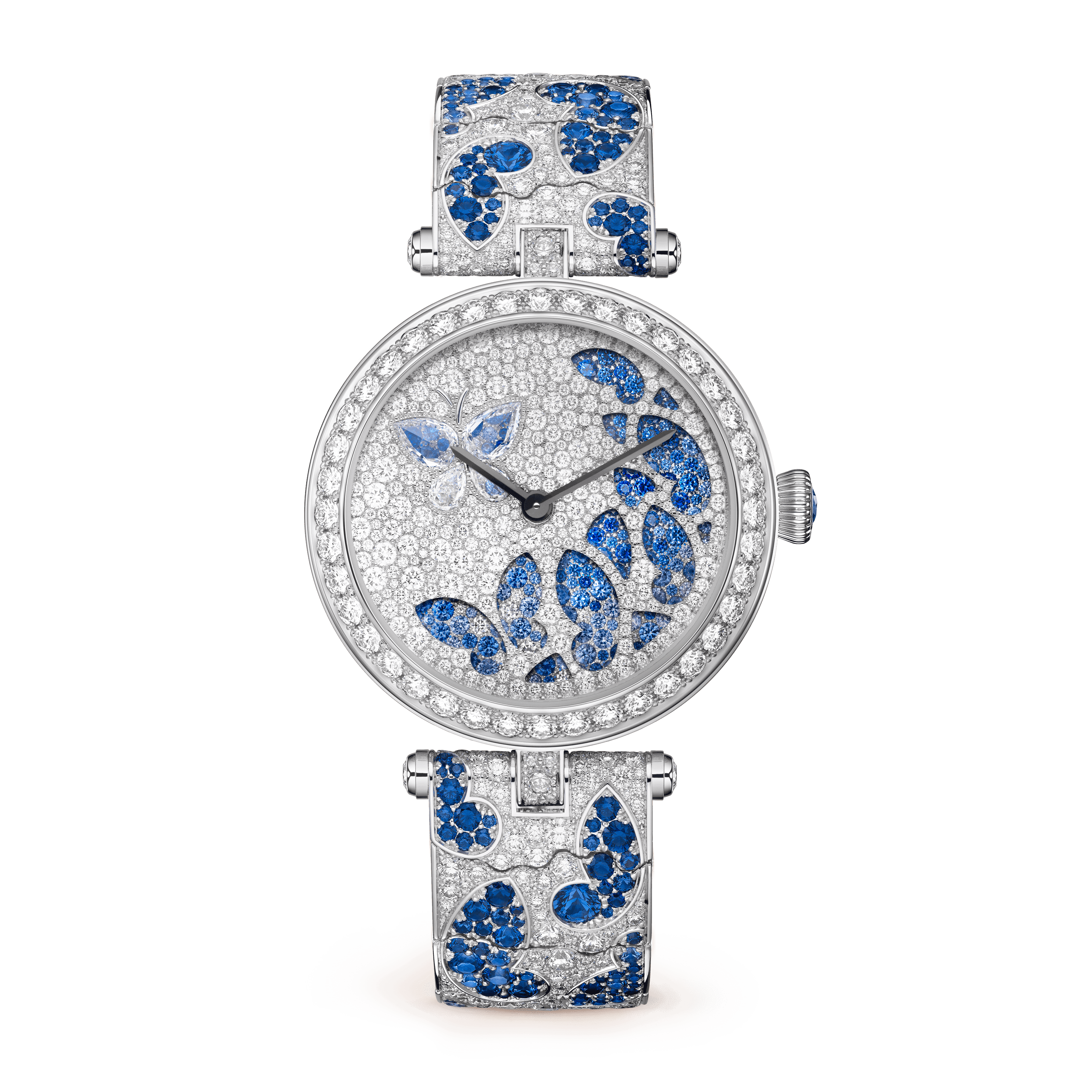 Lady Nuit des Papillons Watch,Gold - Front View - VCARO8O100 - Van Cleef & Arpels
