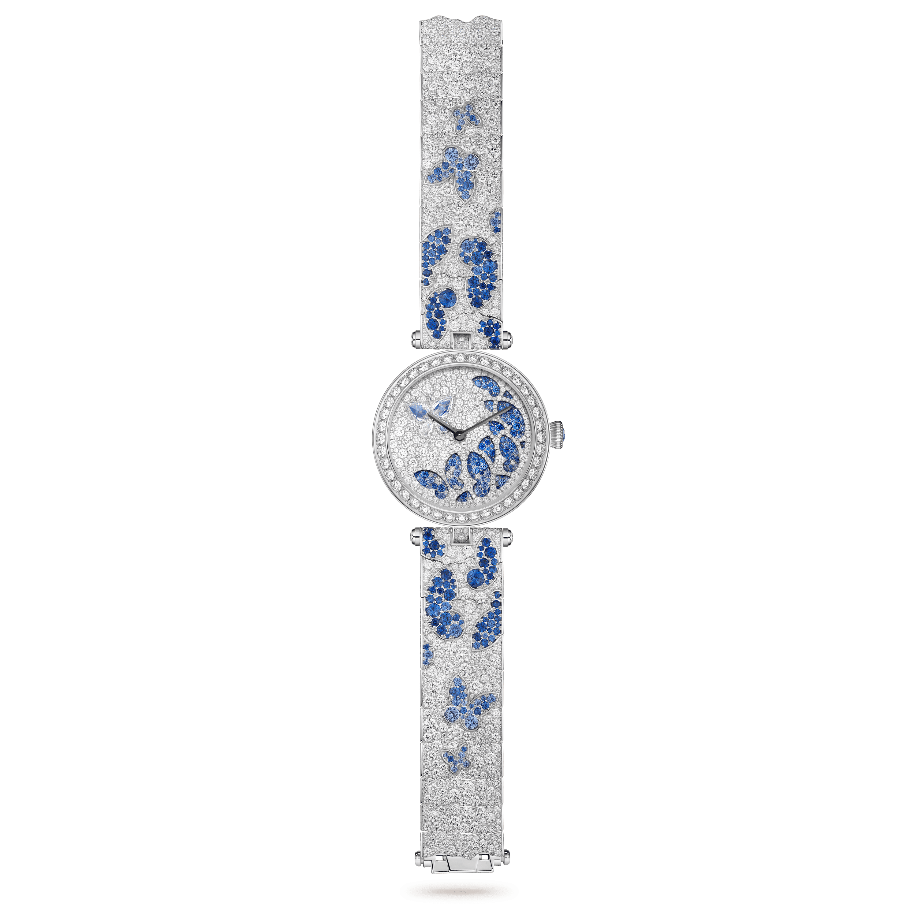 Lady Nuit des Papillons Watch,Gold - Open View - VCARO8O100 - Van Cleef & Arpels