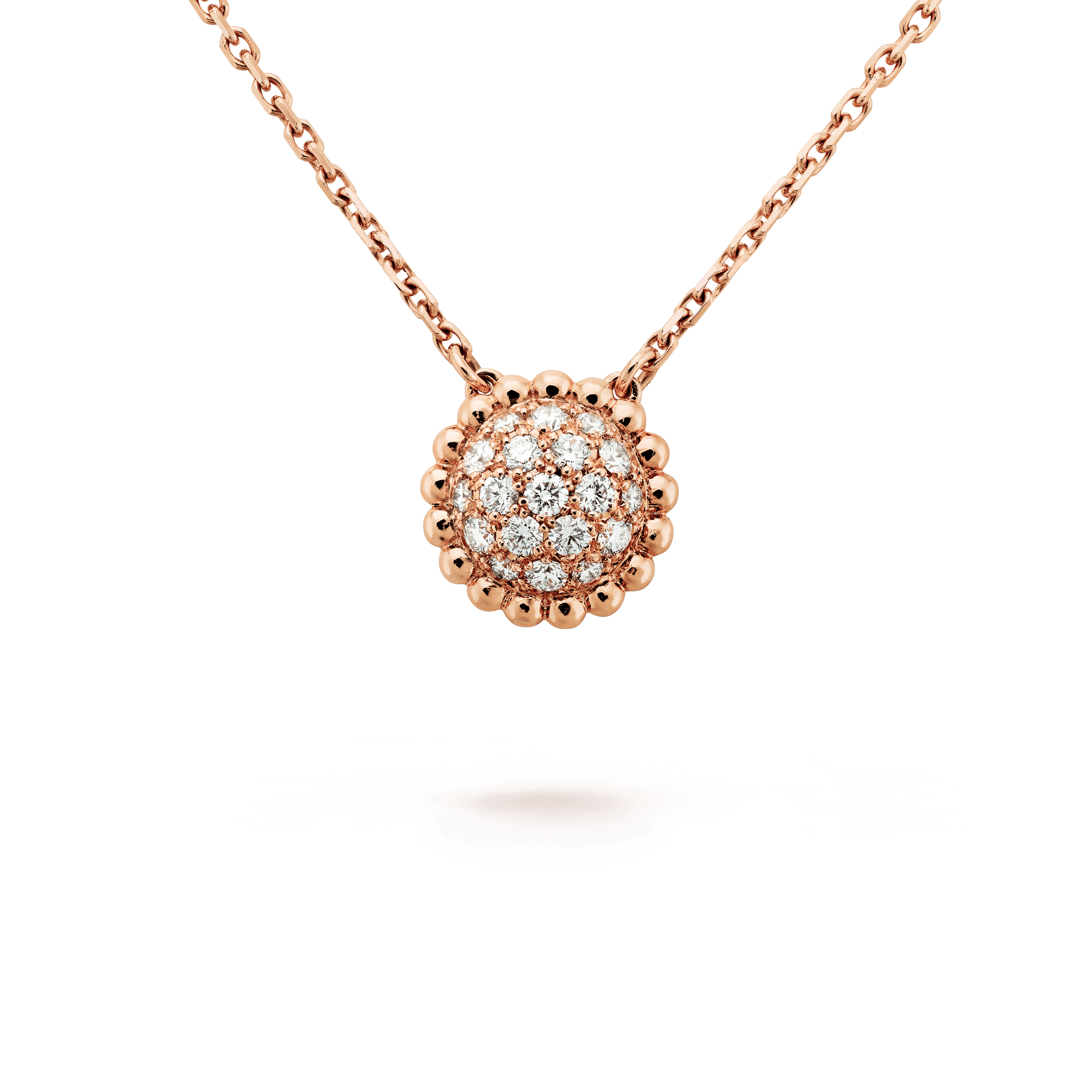 Perlée diamonds pendant, - Detail View - VCARO9PE00 - Van Cleef & Arpels