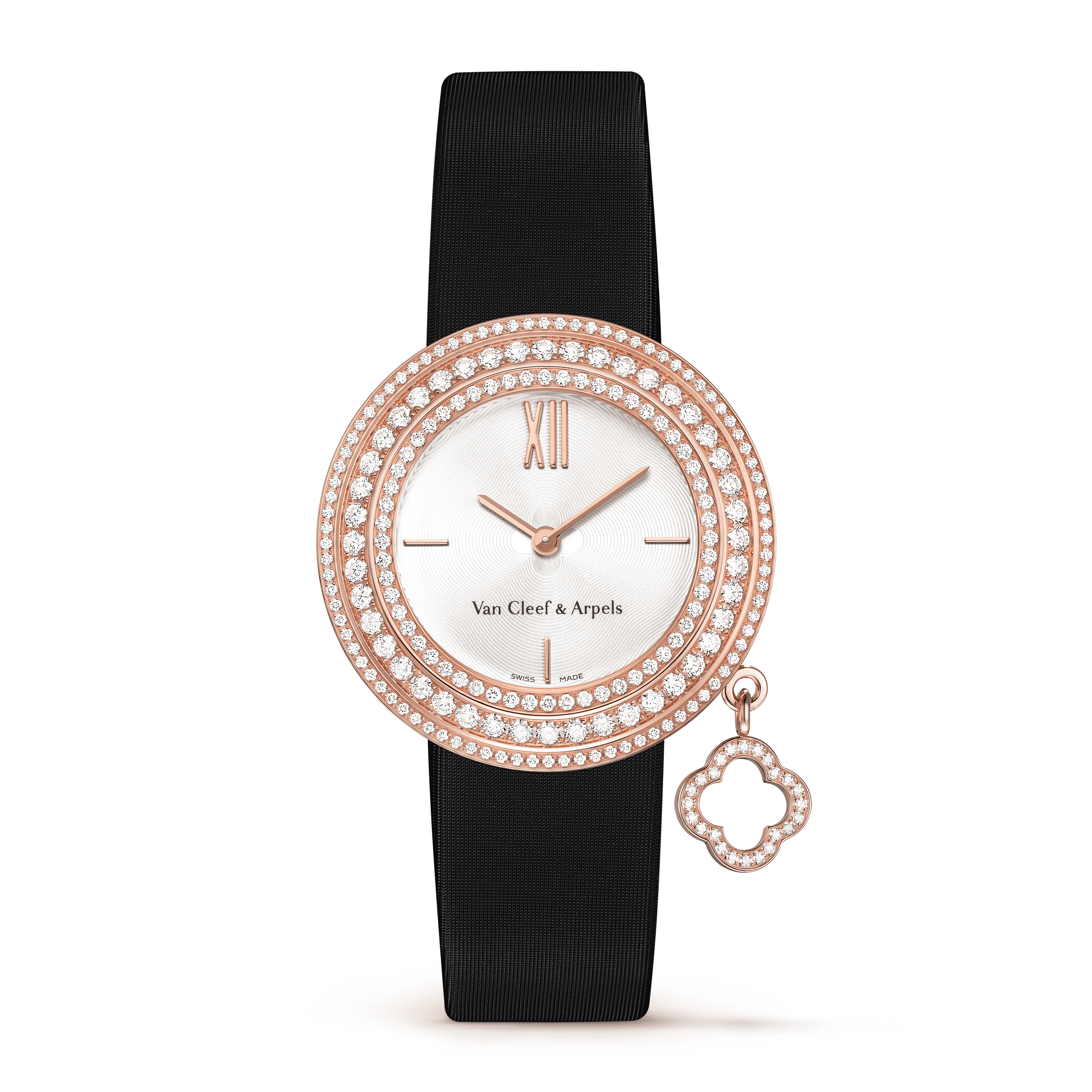 Charms watch, 32 mm,Satin,self interchangeable - Front View - VCARM93500 - Van Cleef & Arpels