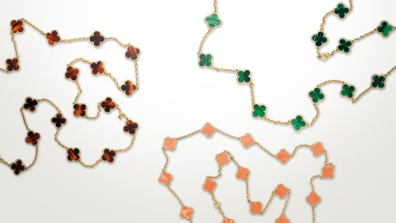 Alhambra® necklaces owned by H.S.H. Princess Grace of Monaco, circa 1975, Private collection of H.S.H Princess Grace of Monaco, Principality of Monaco Image 5 - Van Cleef & Arpels