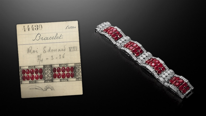 Hold Tight bracelet retail card, 1936, Van Cleef & Arpels' Archives / Hold Tight bracelet, 1936, Private Collection Image 2 - Van Cleef & Arpels